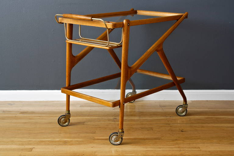 Mid Century Modern Vintage Italian Bar Cart By Salca For
