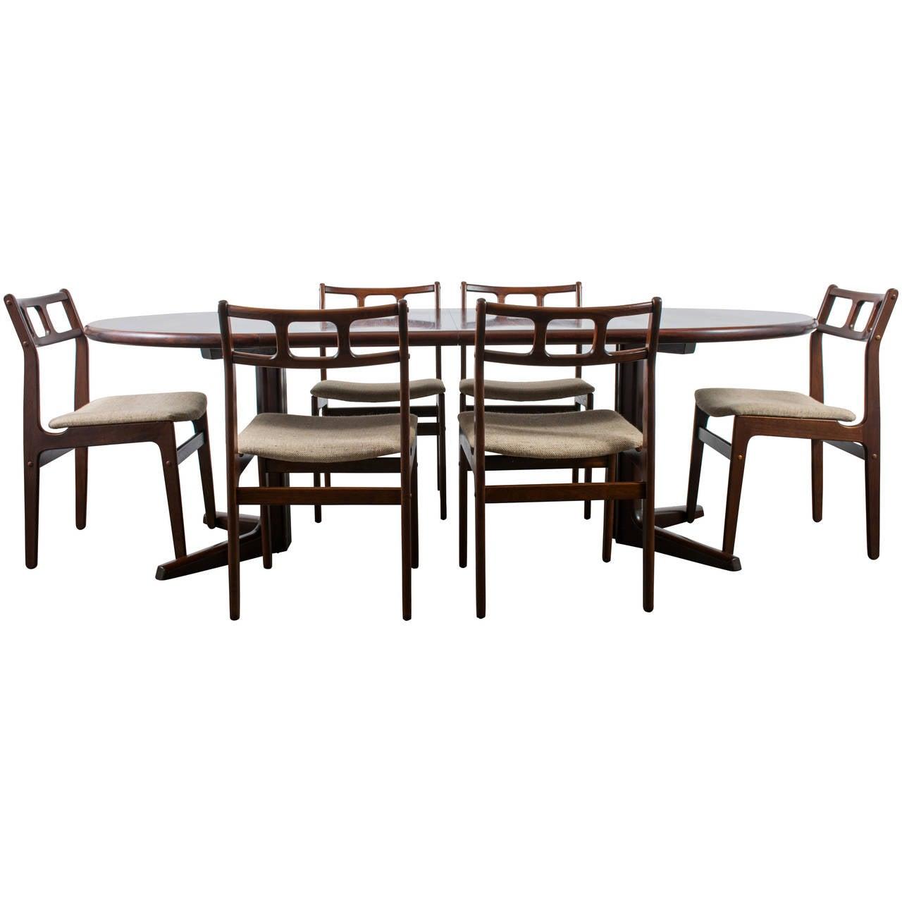 Danish Modern Rosewood Dining Set By Dyrlund At 1stdibs