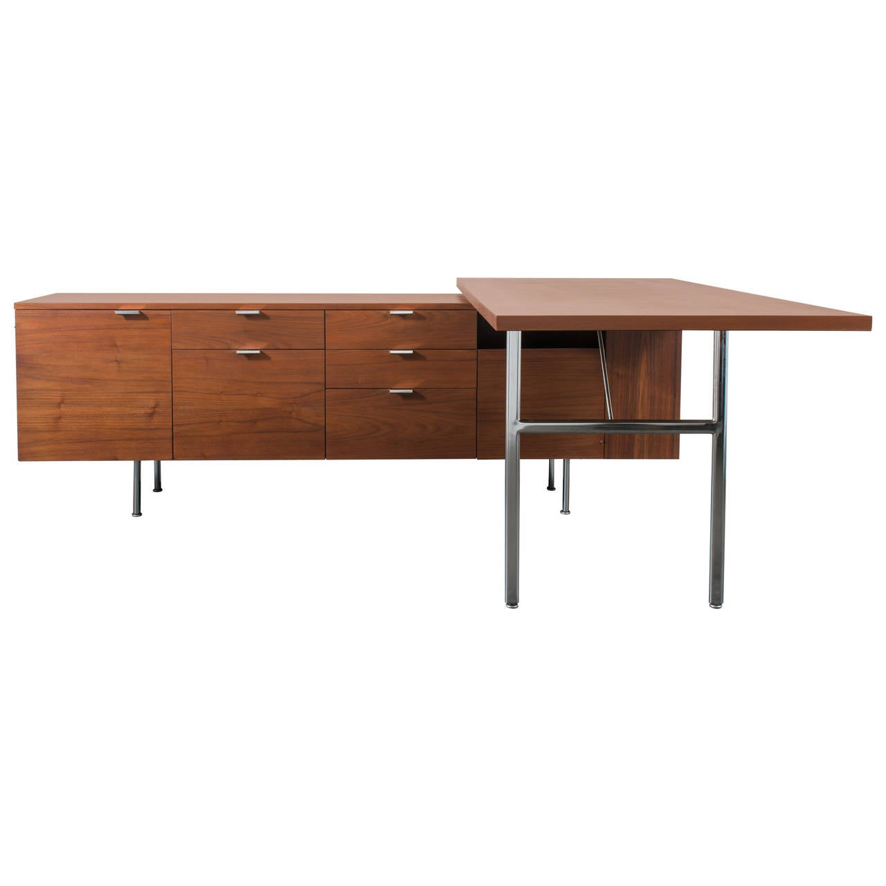 Executive Desk With Return By George Nelson For Herman