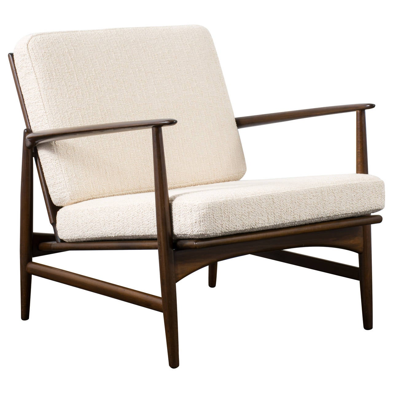 Danish modern lounge chair by kofod larsen for selig at 1stdibs