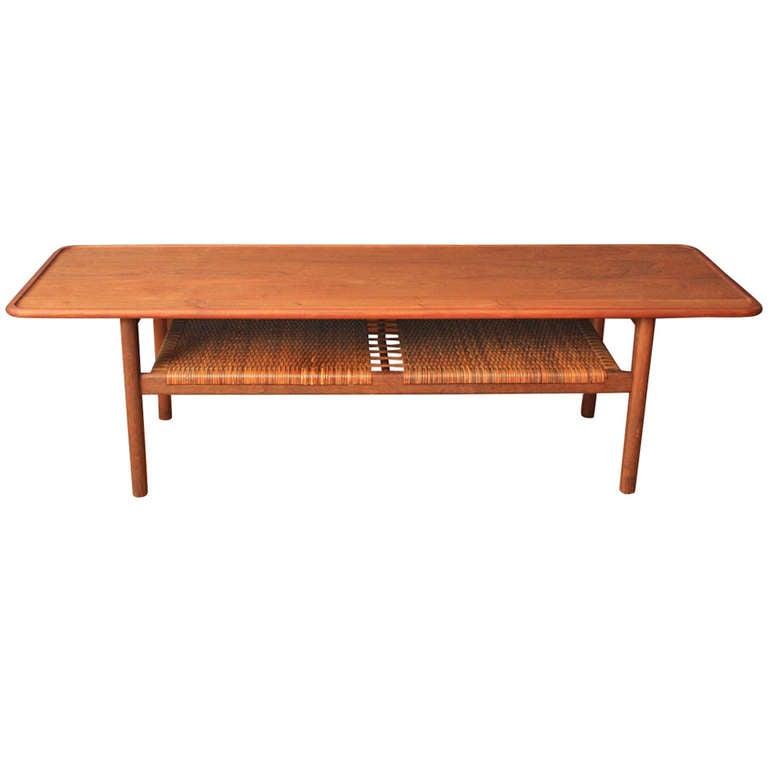 Danish Modern Teak Coffee Table By Hans Wegner At 1stdibs