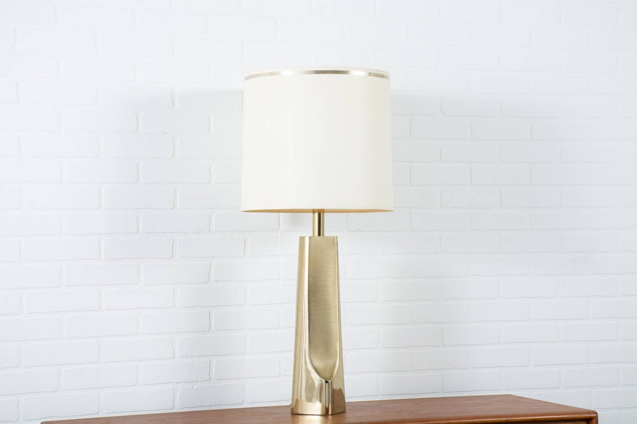 vintage midcentury brass table lamp by laurel lamp at stdibs - vintage midcentury brass table lamp by laurel lamp