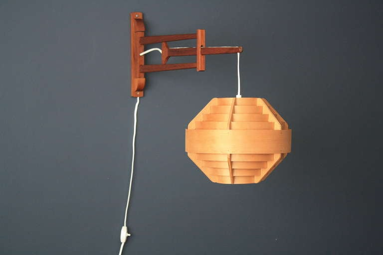 Danish Modern Wall Mount Lamp at 1stdibs
