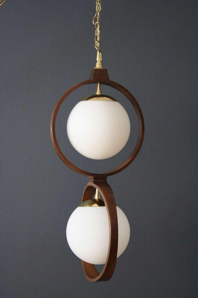 vintage mid century modeline hanging lamp at 1stdibs. Black Bedroom Furniture Sets. Home Design Ideas