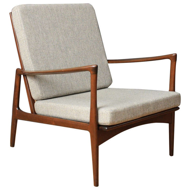 Danish Modern Lounge Chair by Ib Kofod Larsen for Selig at 1stdibs