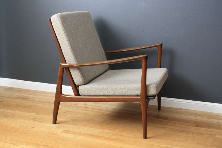 Danish Modern Lounge Chair By Ib Kofod Larsen For Selig 2