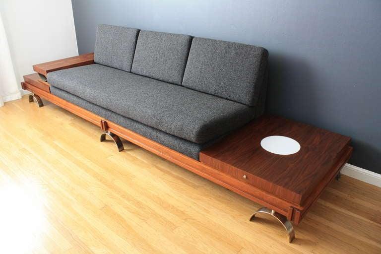 Exceptional Mid Century Modern Platform Sofa By Martin Borenstein 2
