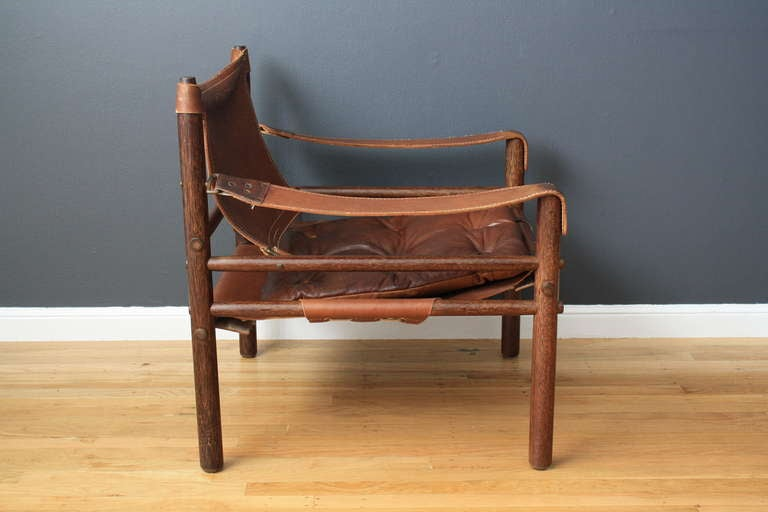 Vintage Leather Safari Chair By Arne Norell 3