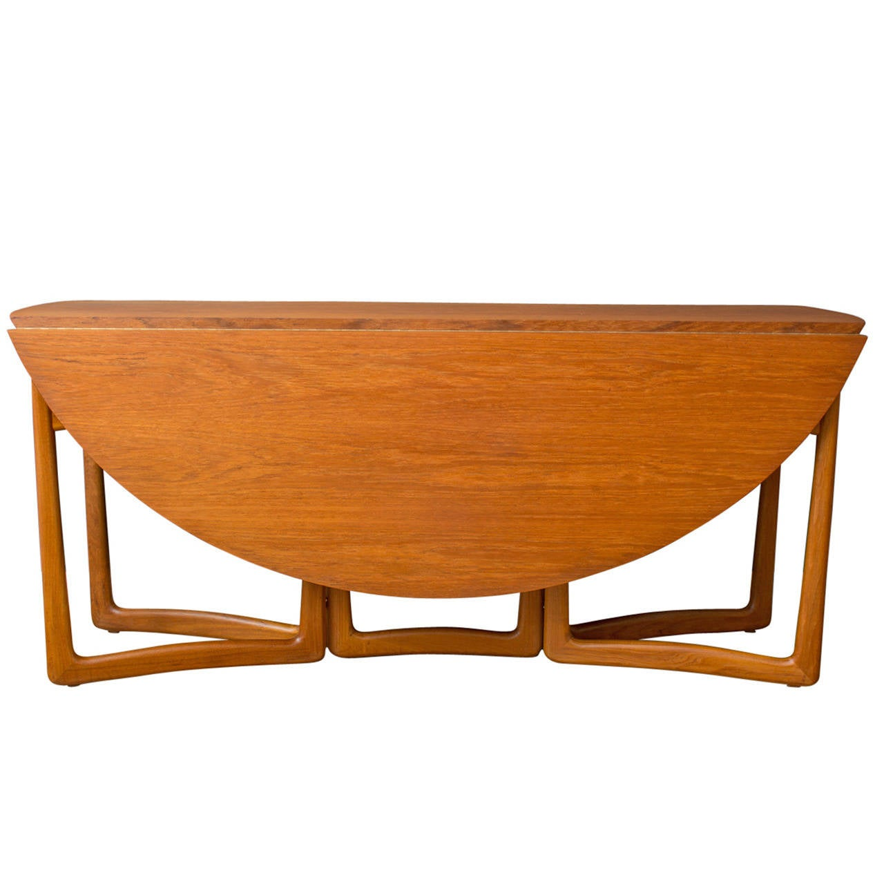 Danish Modern Drop Leaf Dining Table By Peter Hvidt And