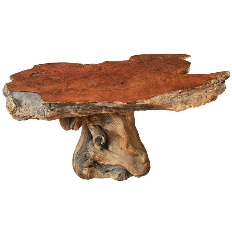 Vintage Burled Cypress Wood Live Edge Side Table At 1stdibs: Vintage Burl Wood Table At 1stdibs