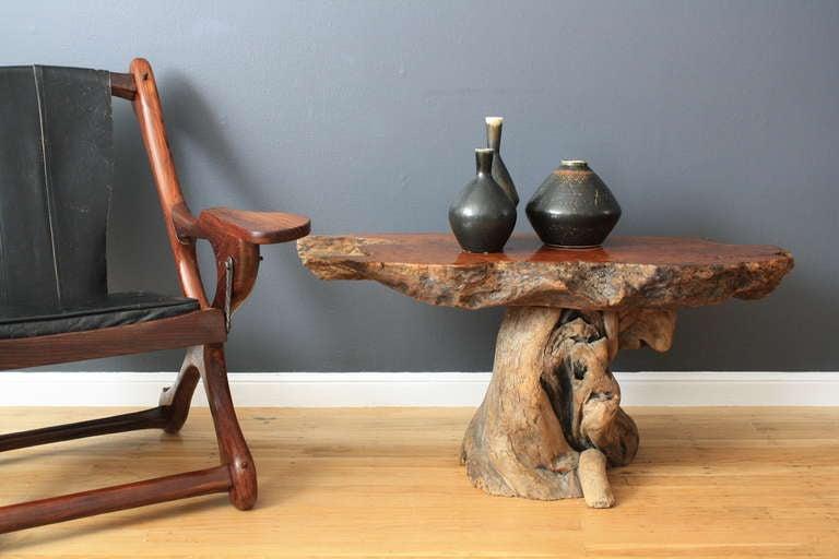 Vintage Burl Wood Table 3