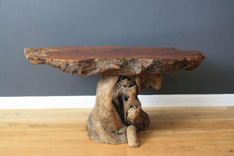 Vintage Burl Wood Table 4