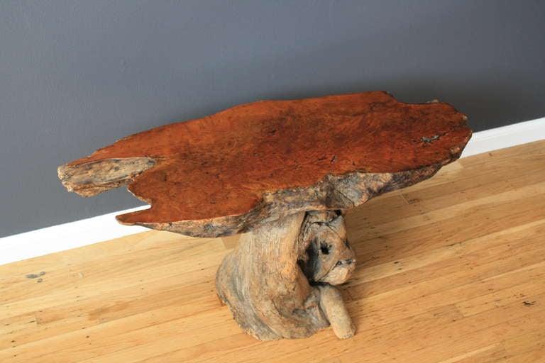 Vintage Burl Wood Table 7