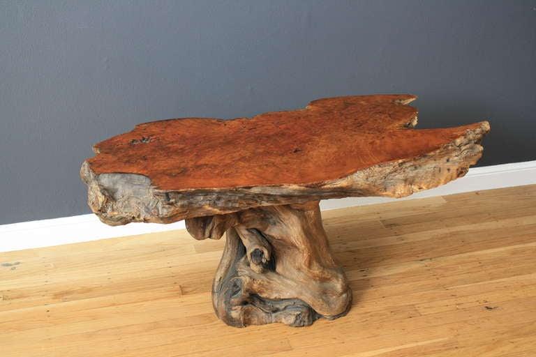 Vintage Burl Wood Table 2