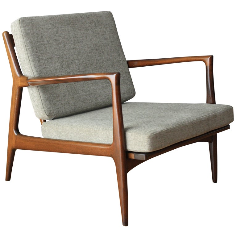 Danish modern selig lounge chair at 1stdibs for Mid century modern armchairs