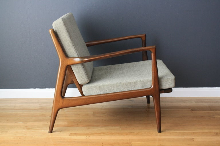 Danish Modern Selig Lounge Chair At 1stdibs