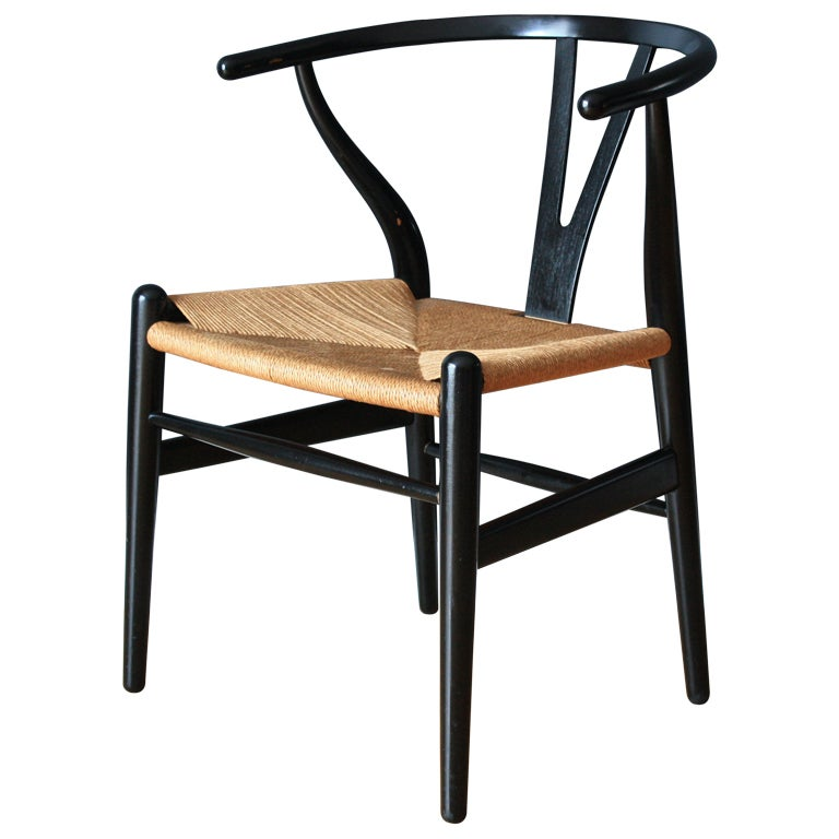 vintage wishbone chair by hans wegner at 1stdibs