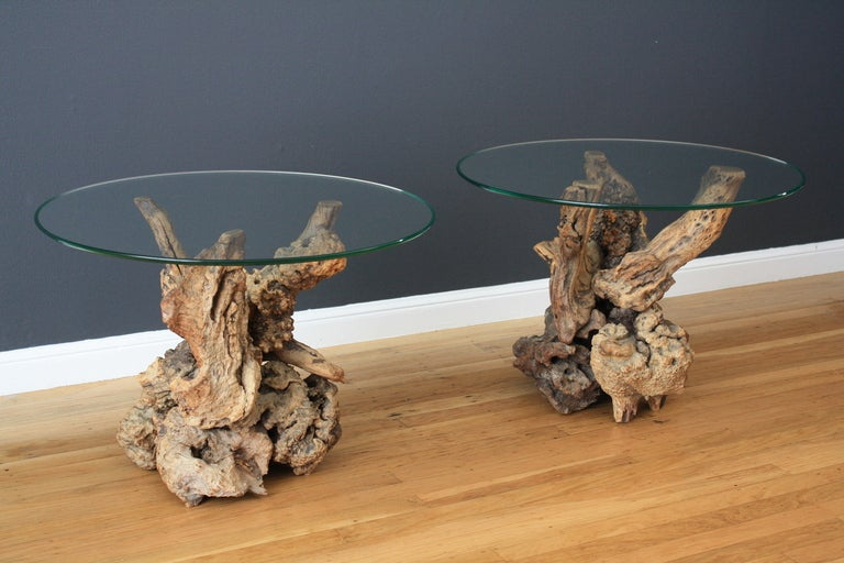 Perfect Vintage Mid Century Driftwood Side Tables 2