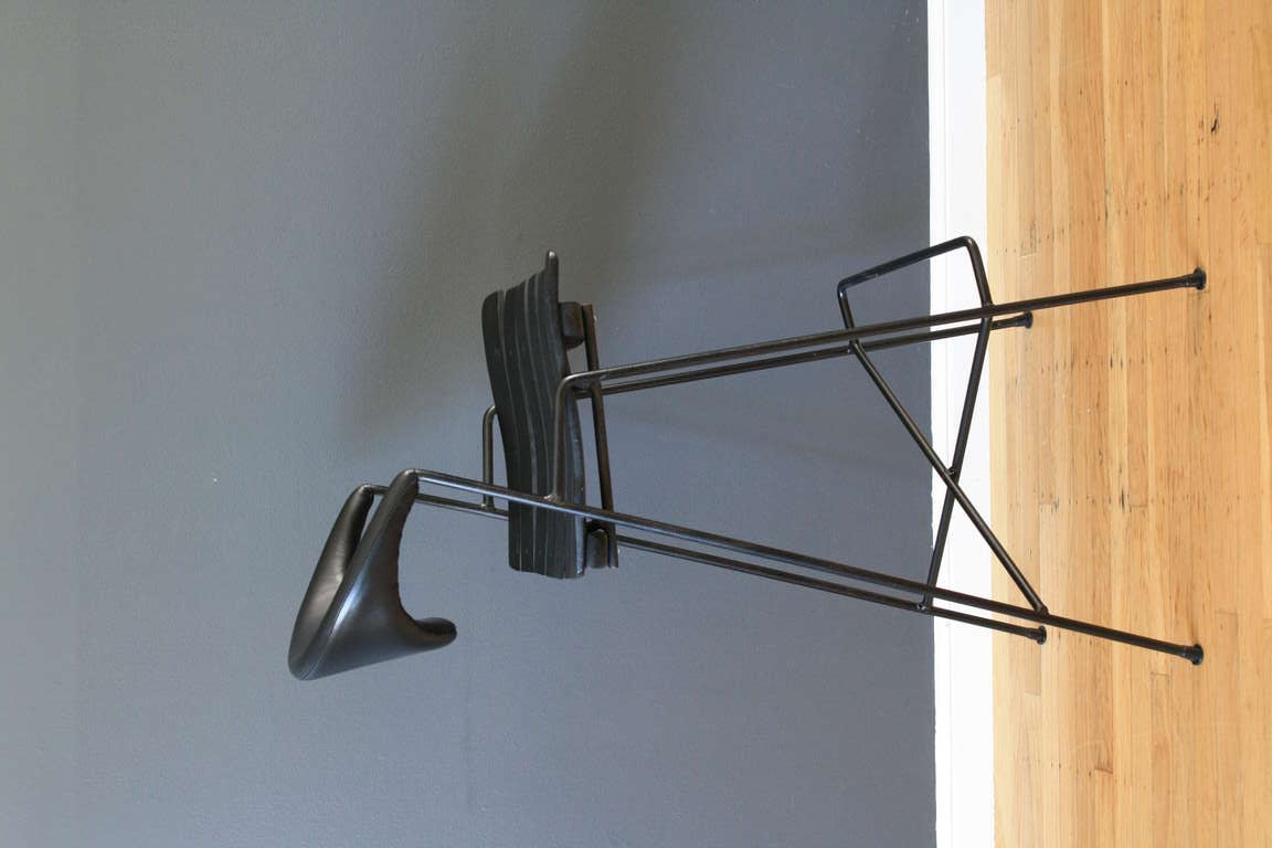 Set Of Three Mid Century Modern Bar Stools By Arthur
