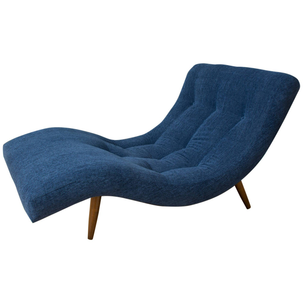 Vintage mid century chaise lounge chair by adrian pearsall for Antique chaise lounge
