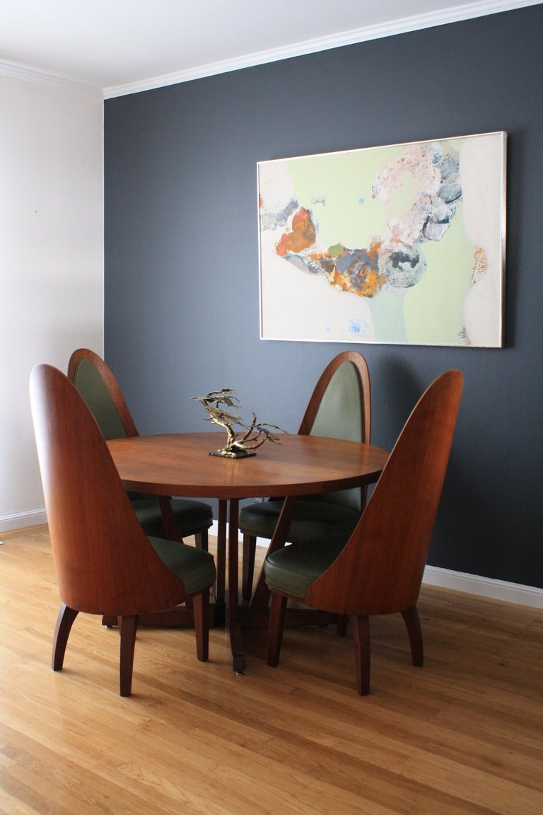 mid century modern dining table and chairs by chet beardsley at 1stdibs. Black Bedroom Furniture Sets. Home Design Ideas