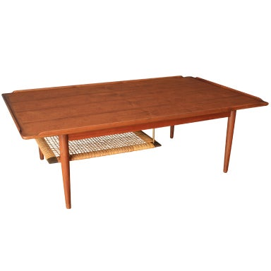 Danish Modern Teak Coffee Table By Poul Jensen For Selig At 1stdibs
