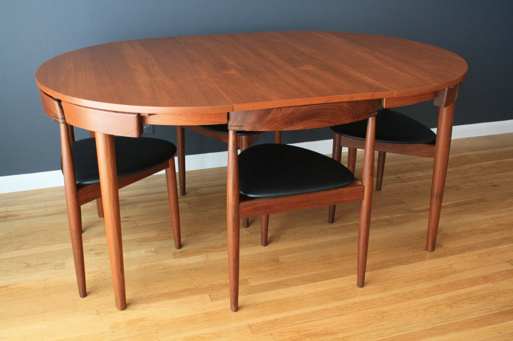 Hans Olsen Teak Dining Table With Four Chairs 3