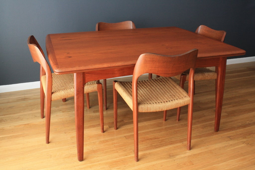 danish modern teak dining table by svend a madsen at 1stdibs