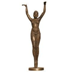 Art Deco Style Dancer Statue in Bronze after Demetre Chiparus