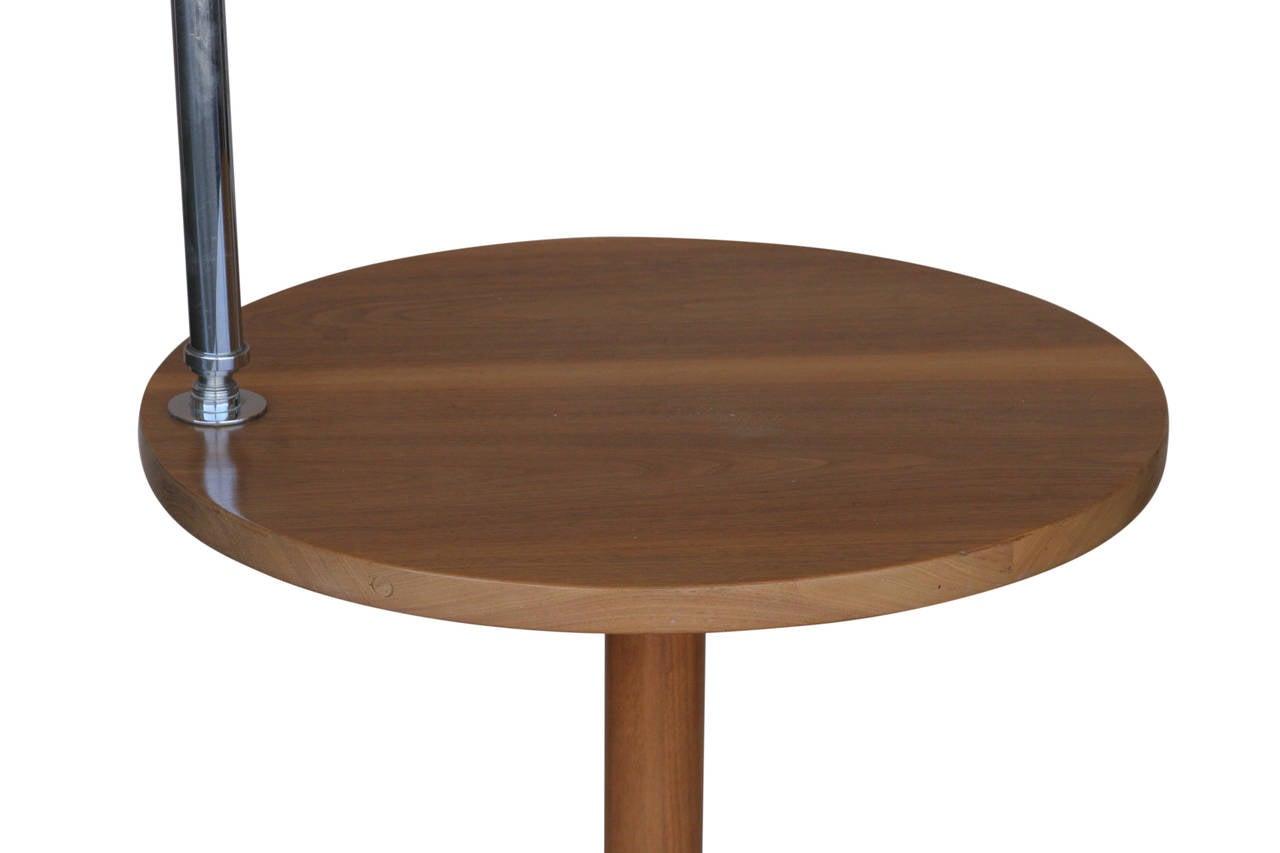 circa 1930 streamline side table floor lamp at 1stdibs. Black Bedroom Furniture Sets. Home Design Ideas