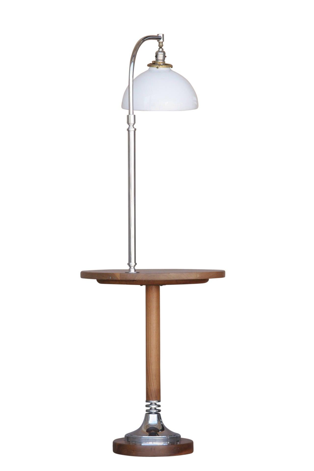 Circa 1930 Streamline Side Table Floor Lamp At 1stdibs