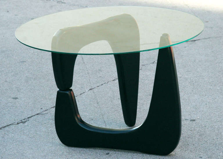Noguchi Style Black Lacquer Side Table Saturday Sale For Sale At - Noguchi inspired coffee table