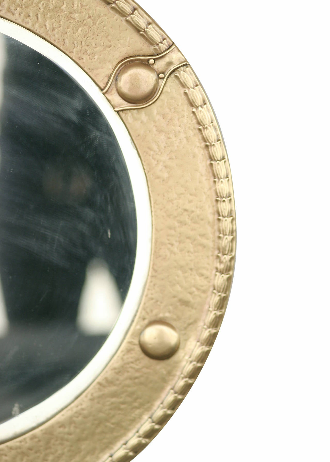 Antique Brass Federal Round Wall Mirror For Sale At 1stdibs