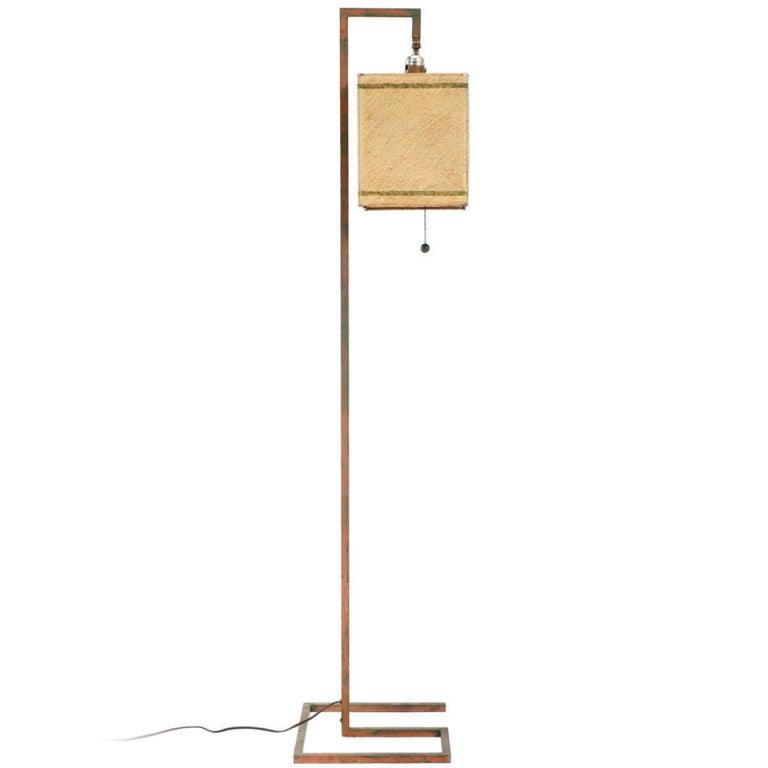 rare art deco floor lamp by donald deskey at 1stdibs. Black Bedroom Furniture Sets. Home Design Ideas