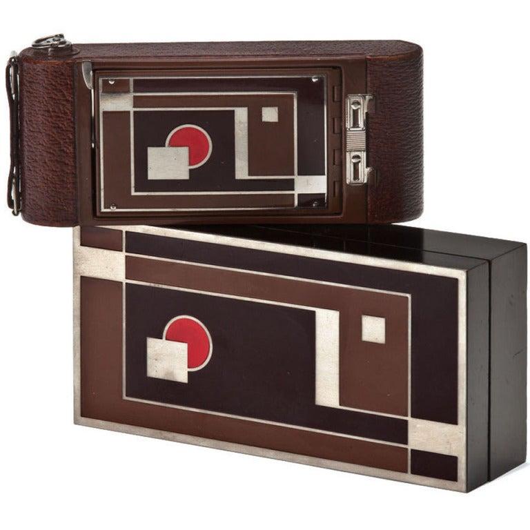 "Rare Walter Dorwin Teague Designed Kodak ""1A Gift"" Camera with Case"