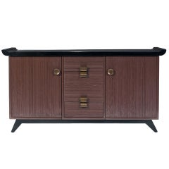 Paul Frankl Combed Wood Buffet or Credenza for Brown Saltman **Saturday Sale **