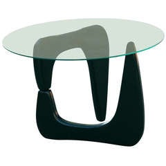 Noguchi Style Black Lacquer Side Table **Saturday Sale**