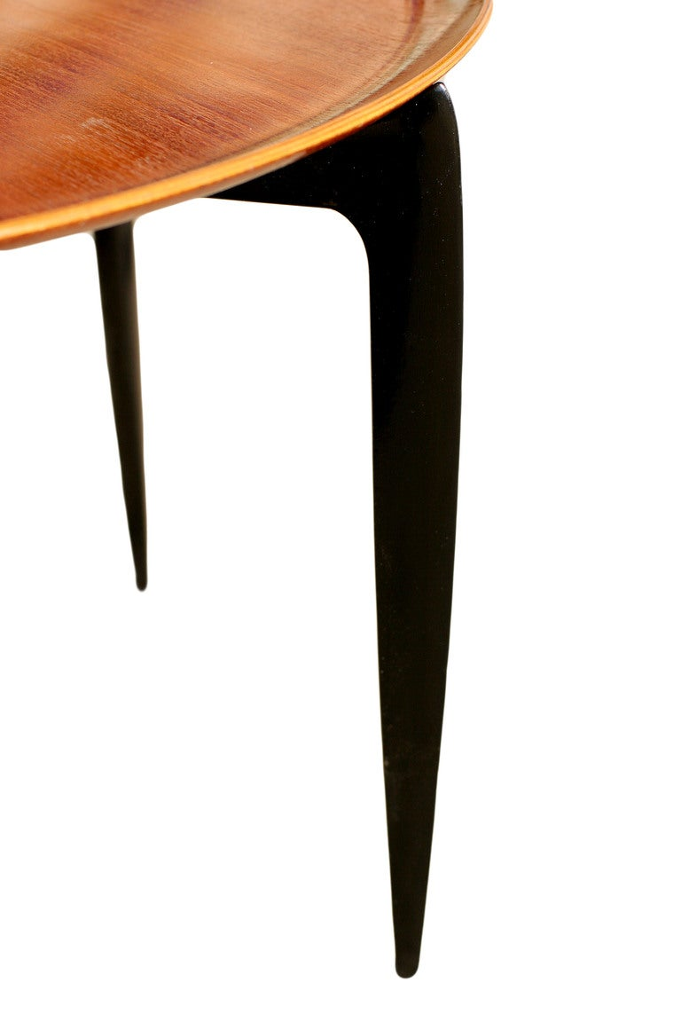 Danish Modern Coffee Table Tray Table By Fritz Hansen At 1stdibs