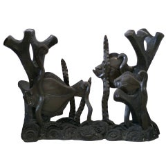 Aquatically Themed Bronze Console Table Base by Mimi London **Saturday Sale**