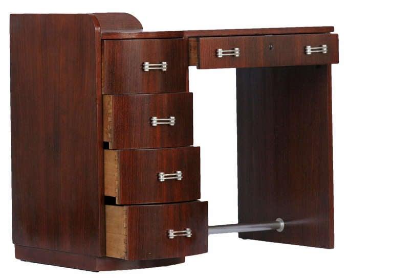 french art deco secretary writing desk at 1stdibs. Black Bedroom Furniture Sets. Home Design Ideas