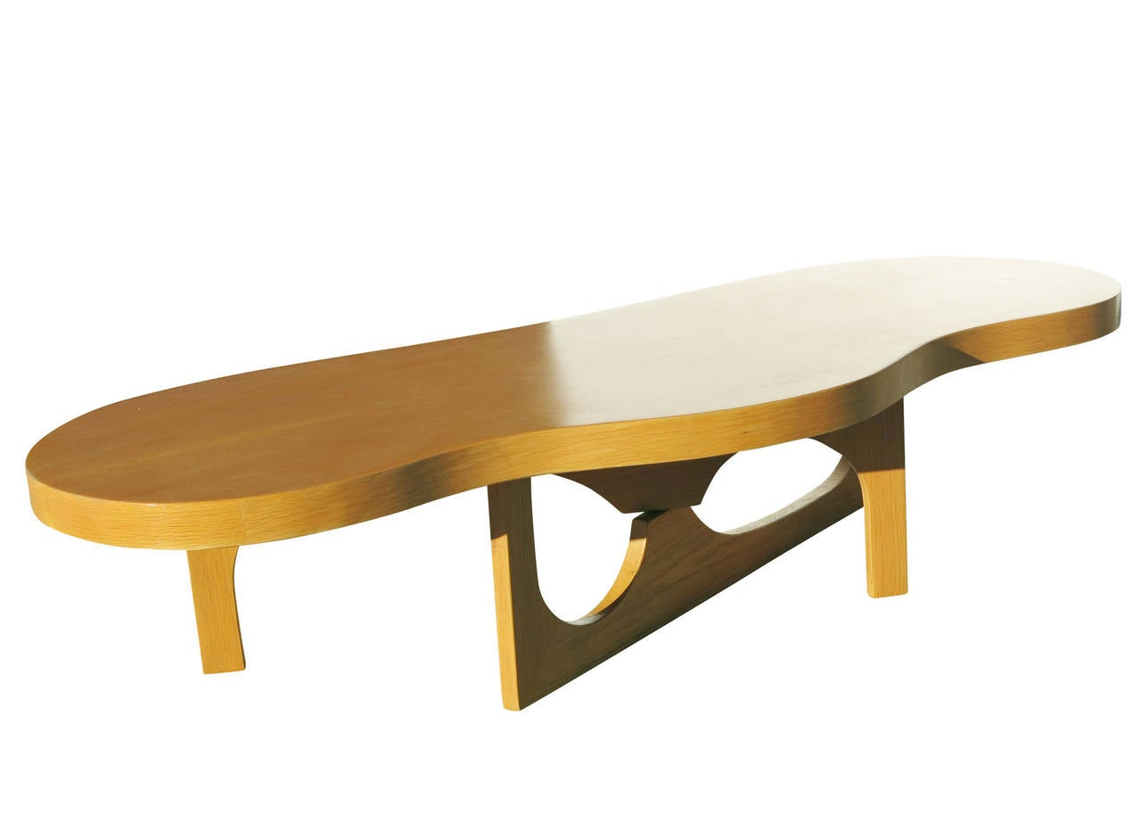 isamu noguchi inspired free form coffee table at 1stdibs. Black Bedroom Furniture Sets. Home Design Ideas