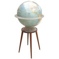 National Geographic Illuminated Globe with Custom Walnut Stand