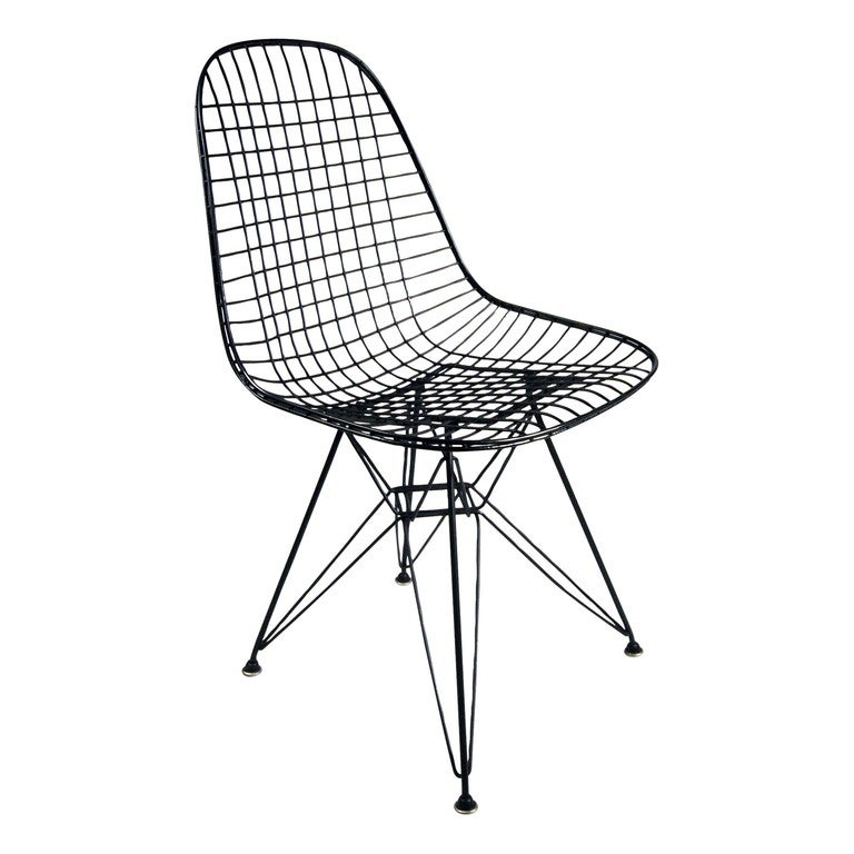 Eames DKR Wire Side Chair For Herman Miller Set Of Four