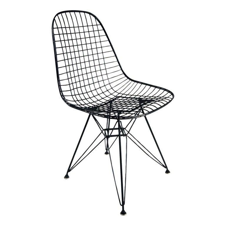 eames dkr wire side chair for herman miller set of four at 1stdibs. Black Bedroom Furniture Sets. Home Design Ideas