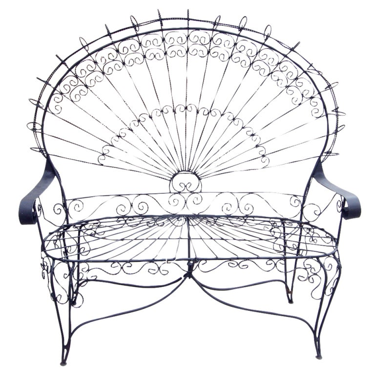 Victorian Style Outdoor Wrought Iron Quot Peacock Quot Settee