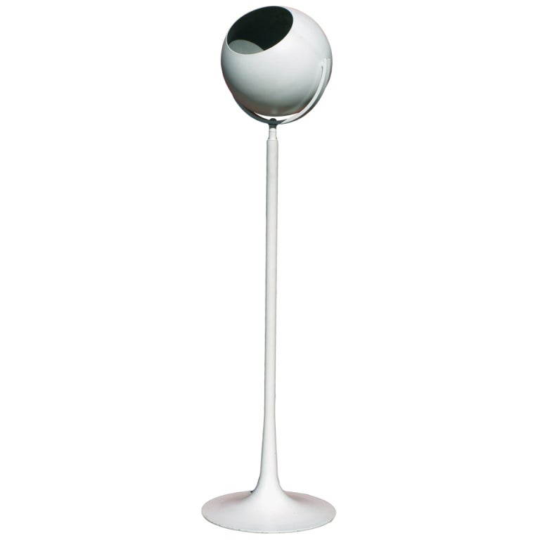 "1970s Adjustable ""Eye Ball"" Floor Lamp on Pedestal Base"