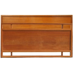 Paul Laszlo Full Sized Bed for Brown Saltman in Blond Mahogany