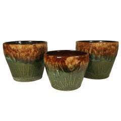 "Robinson Ransbottom ""Sunrise / Sunset"" Jardinieres, Set of Three"
