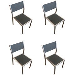 "Aluminum ""Ozon"" Side Chairs by Royal Botania, Set of Four **Saturday Sale**"