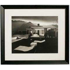 """Julius Shulman """"1947 Kaufman House Palms Springs"""" Print Signed"""